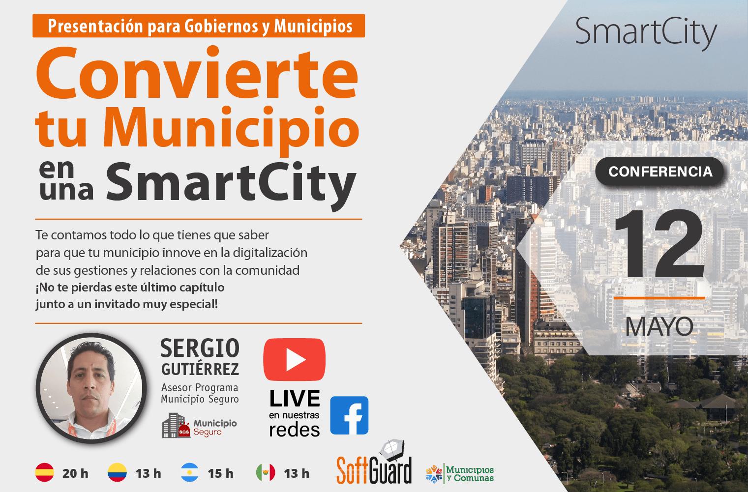 12 DE MAYO CONFERENCIA WEB LIVE: NOVEDADES SMARTCITY 2021